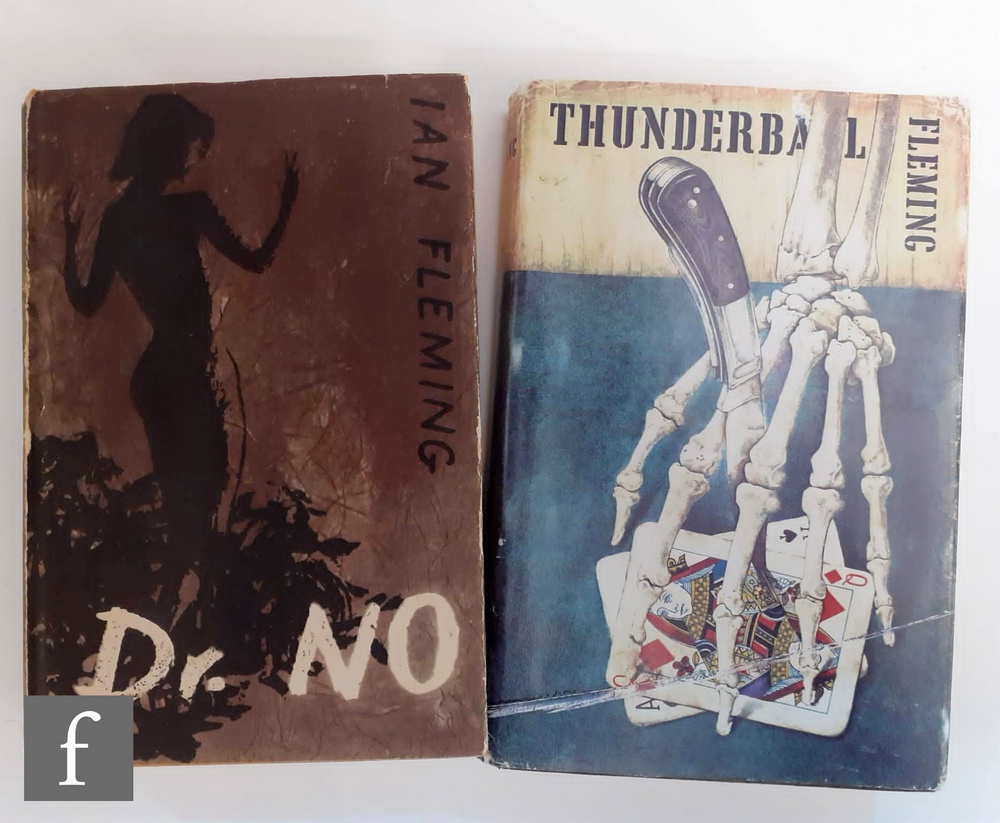 Two Ian Fleming James Bond novels to include 'Dr. No', published by Cape, Book Club edition, 1958,