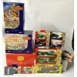 A collection of Lledo diecast models, all The Showmans Collection, Brewing in Britain and The Circus