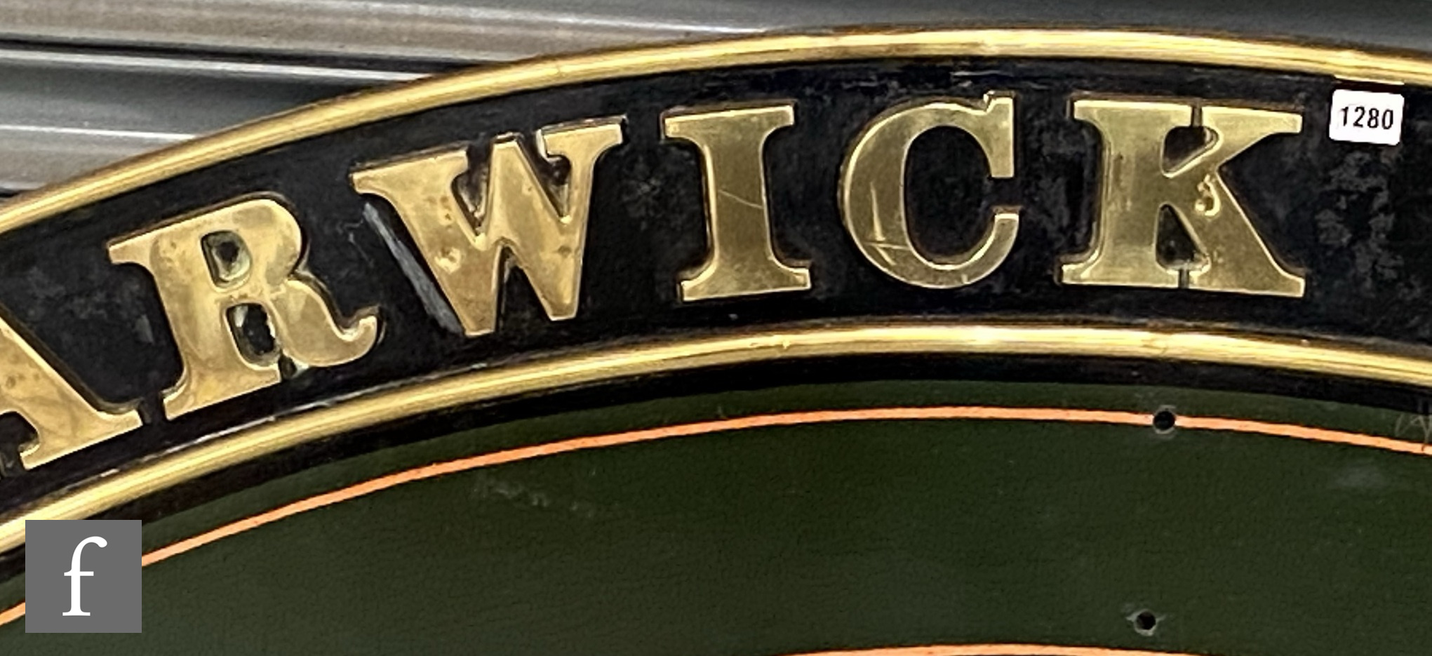 A modified Hall class locomotive brass name plate Parwick Hall, stamped to the rear R 6985 - Image 6 of 8