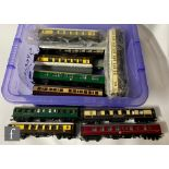 A collection of assorted OO gauge coaches by Triang, Airfix, Hornby and similar to include Pullman