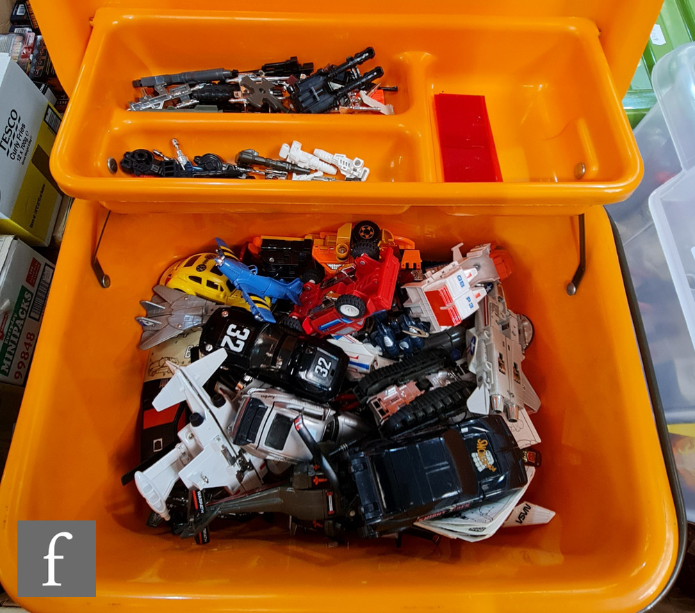 A collection of Hasbro Transformers, all G1, to include Sludge (no accessories besides one rocket,