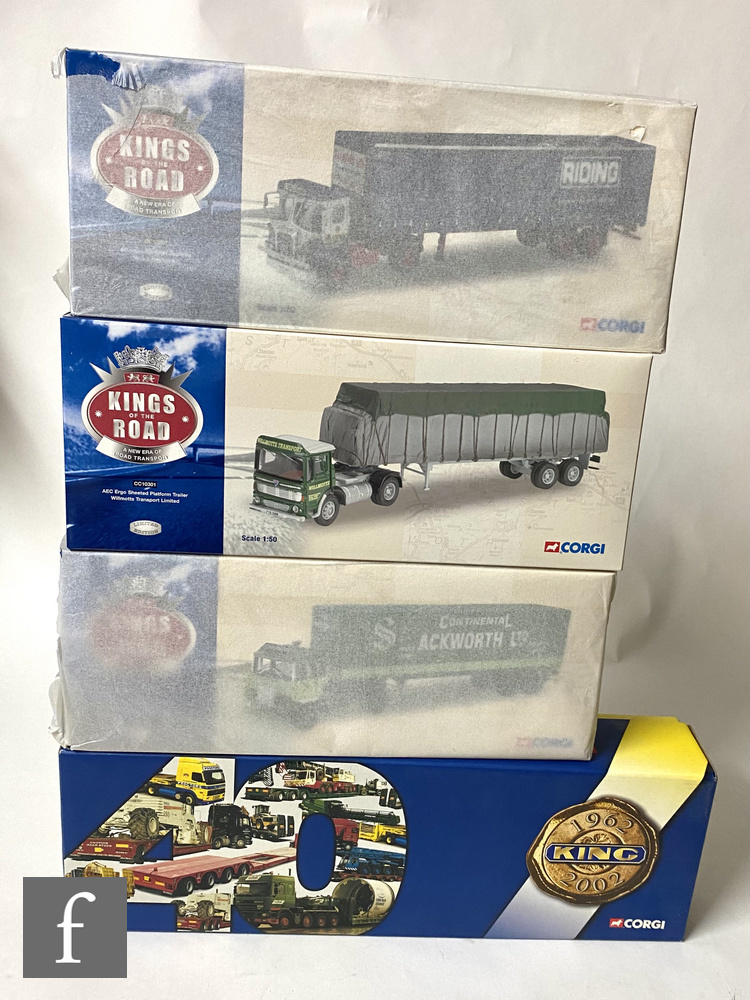 Four Corgi 1:50 scale diecast models, comprising three Kings of the Road, CC10301 Willmotts