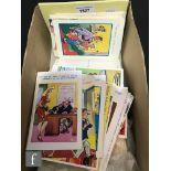 A collection of comical and seaside saucy cards, Scottish and real photographic cards. (qty)