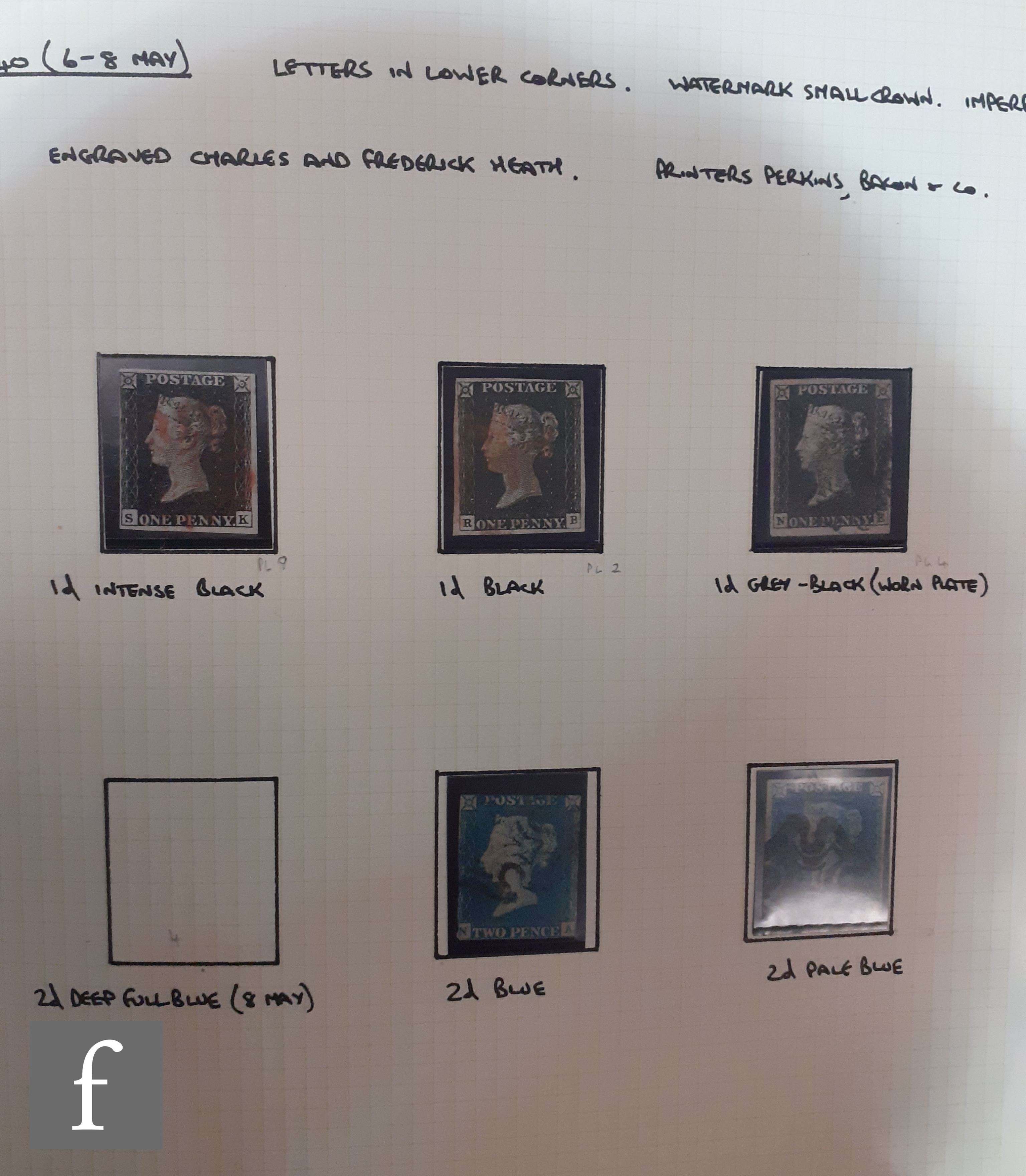 A collection of Great British postage stamps, 1840 through to 1935, including pre-1840 postal