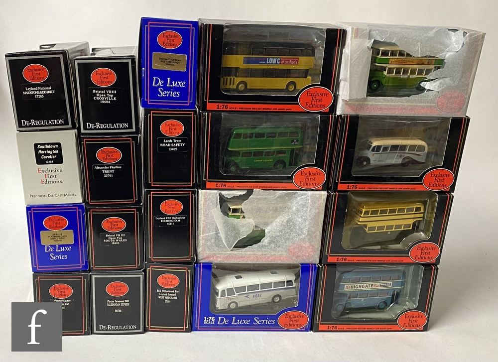 Twenty Exclusive First Editions 1:76 scale diecast models, mostly buses and coaches, all boxed. (20)