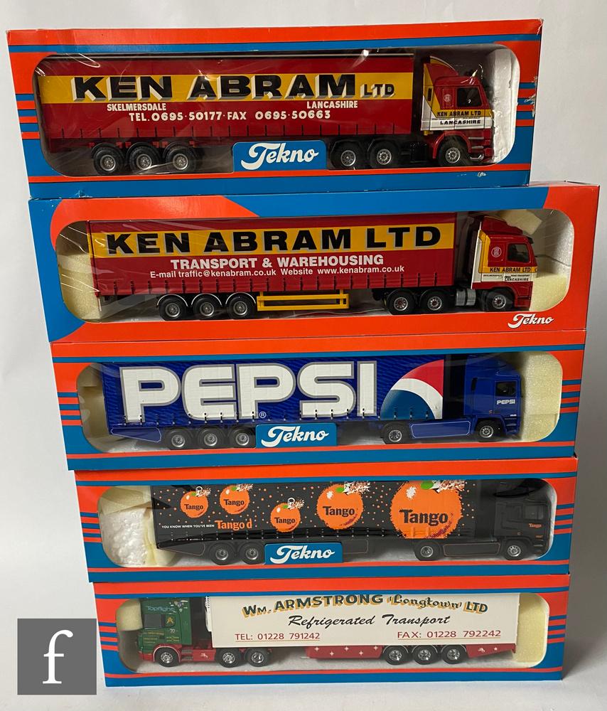 Five Tekno 1:50 scale British Collection road transport diecast models, comprising No. 36 Ken Abram,
