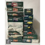 Seventeen Corgi Classics The Connoisseur Collection diecast model buses, to include 34703, 35008,