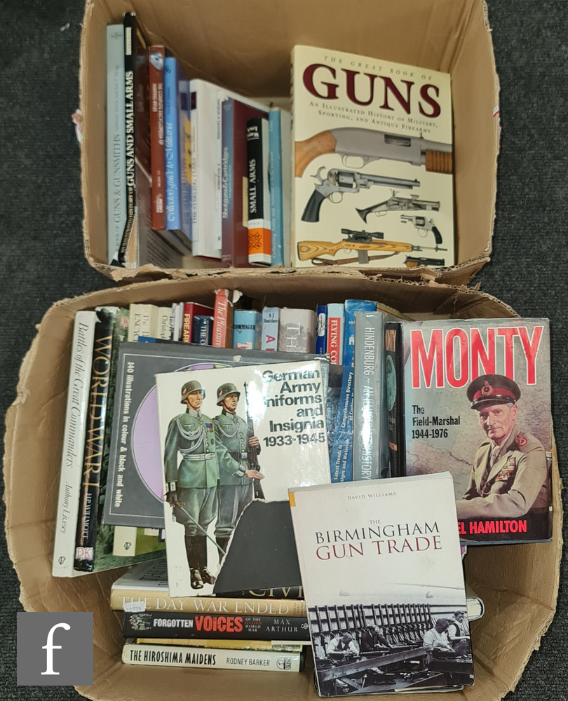 Various gun reference books to include The Great Book of Guns by Chris McNab and Air Rifles by