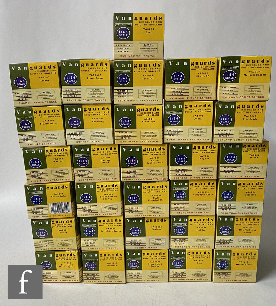 Thirty one Lledo Vanguards 1:64 scale diecast models, all commercial vehicles, boxed.