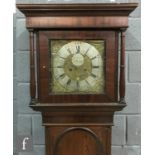 A late 18th to early 19th Century brass longcase clock movement inscribed Jn Fisher Preston, pierced