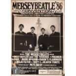 A collection of Beatles ephemera, to include a 1986 MerseyBeatle Convention poster, together with