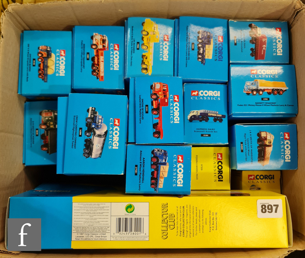 Seventeen Corgi Classics diecast model commercial vehicles, to include Famous Hauliers Around