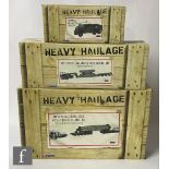 Three Corgi Heavy Haulage 1:50 scale diecast models, comprising CC13209 TSL Vanguard DAF XF