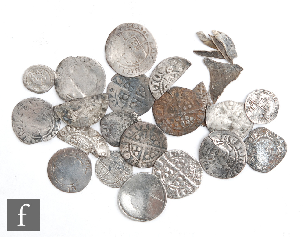 Assorted Edward I to James I pennies, half pennies and cut halves and fragments. (20)