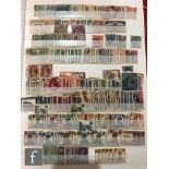 A collection of used postage stamps to include India and Indian States, some with over-printing,