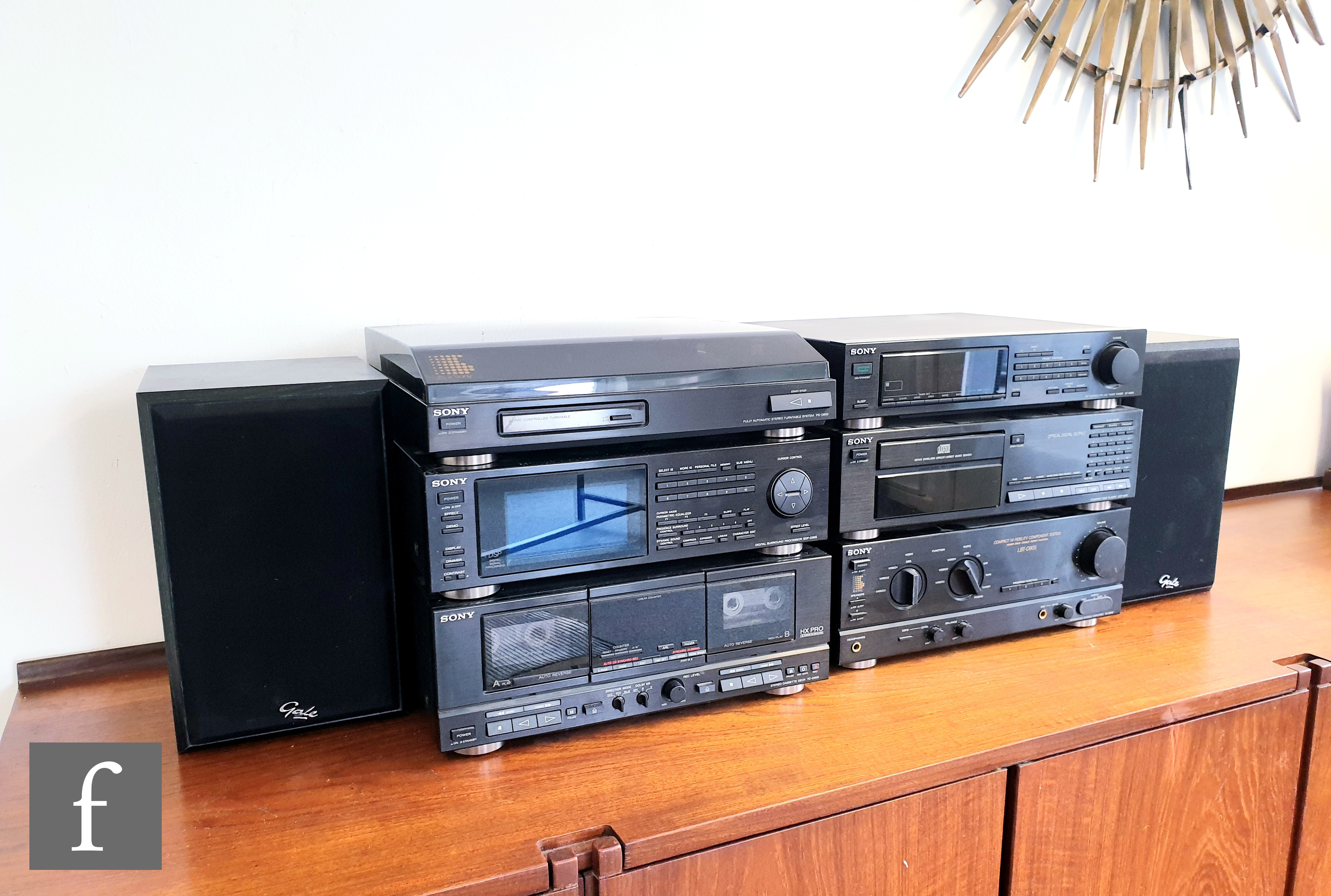 A Sony Hi-Fidelity LBT - D905 component music system, comprising separates, including digital