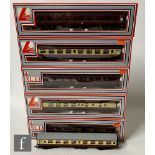 Five OO gauge Lima passenger coaches, to include BR Mk1 corridor coaches etc, all boxed, together