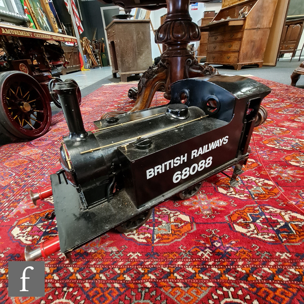 A 5 inch gauge electric NER Y7 Class 0-4-0T BR black dock engine 68088 locomotive built by Dan