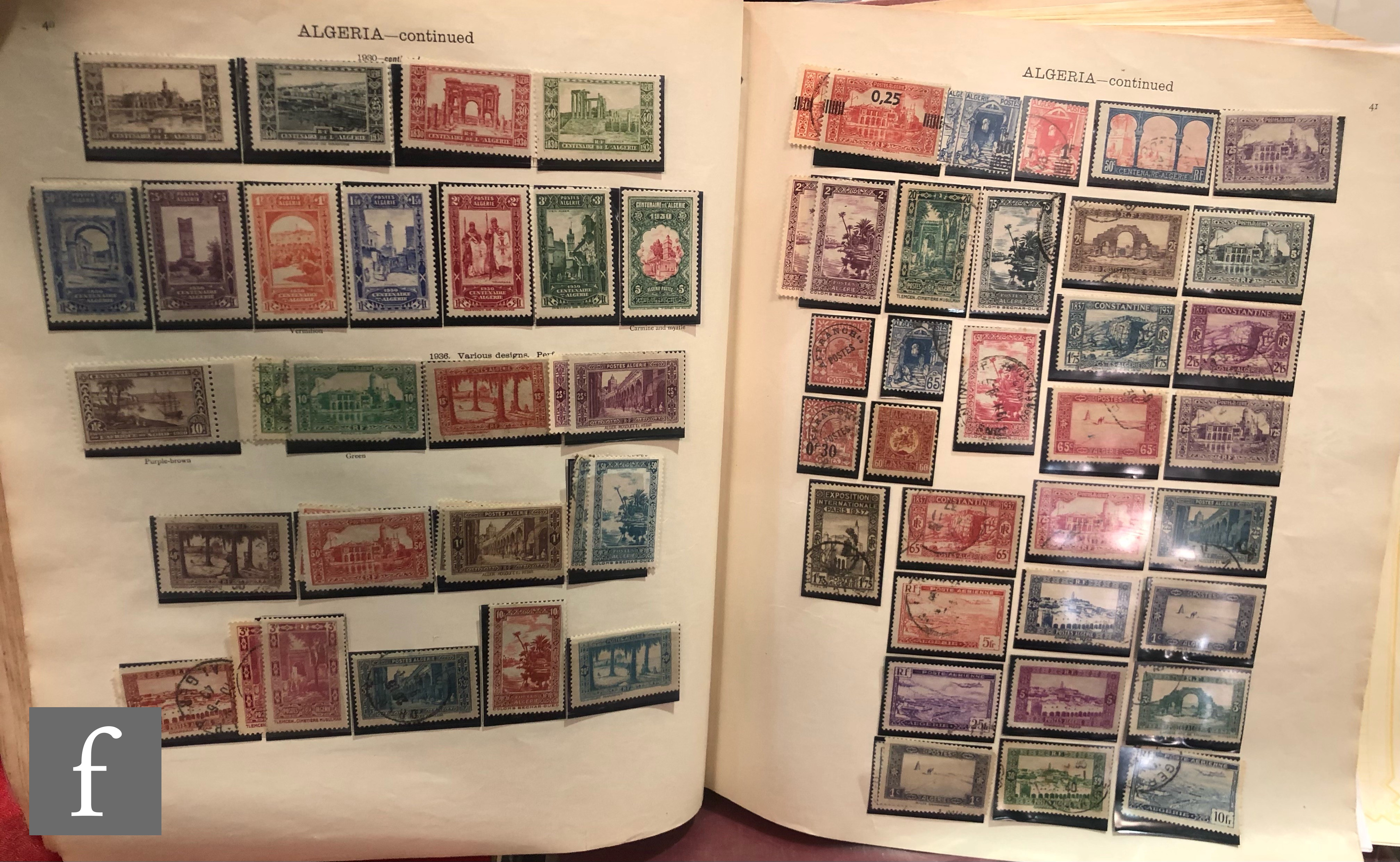 Three stamp albums, 'The Ideal Postage Stamp Album' together with 'The New Ideal Album for the