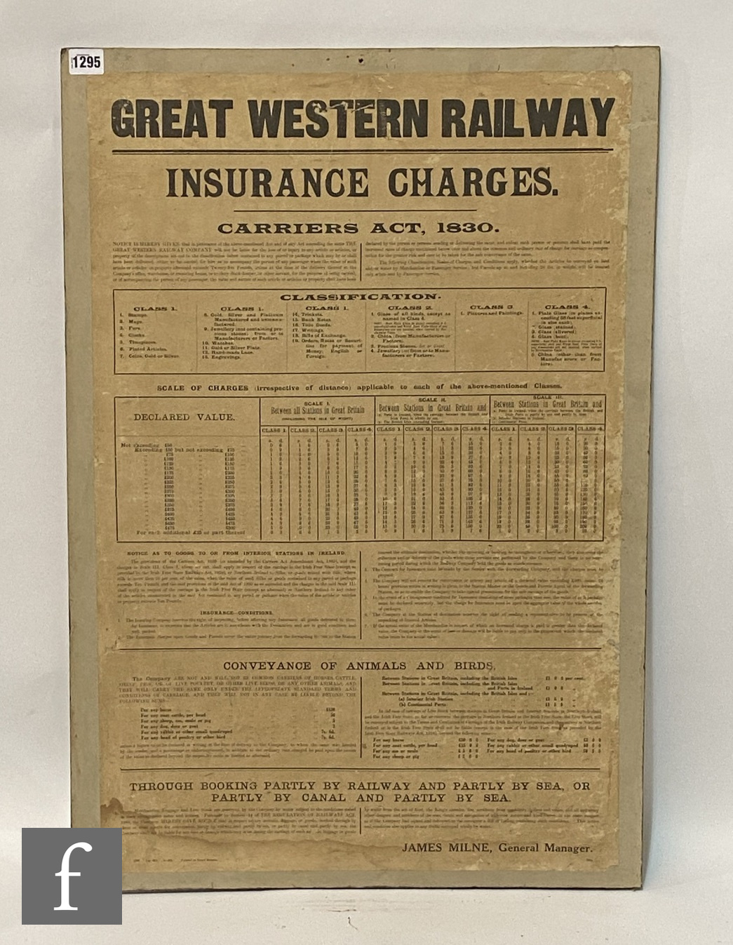 A Great Western railways By-Laws and Regulations display poster, another for Offences and