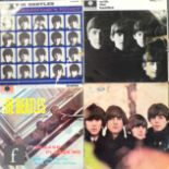 A collection of vinyl Beatles records, to include A Hard Day's Night, PMC 1230, second pressing,