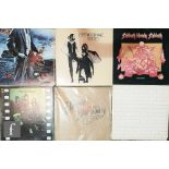 A collection of classic rock, prog rock and 1960s pop LPs to include Pink Floyd, Beatles, Yes,