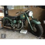 A 1956 Sunbeam 500cc motorcycle, model S7 reg no VNN196, mileage showing only 5036, engine No ES8/