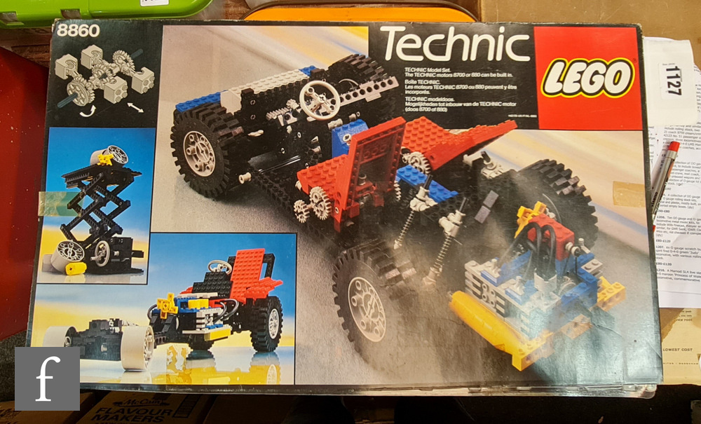 A Lego Technic 8860 Car Chassis, boxed with instructions. Not checked if complete.