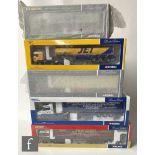 Five Corgi 1:50 scale diecast models, comprising CC13404 Norman Emerson & Sons MAN TGA Curtainside