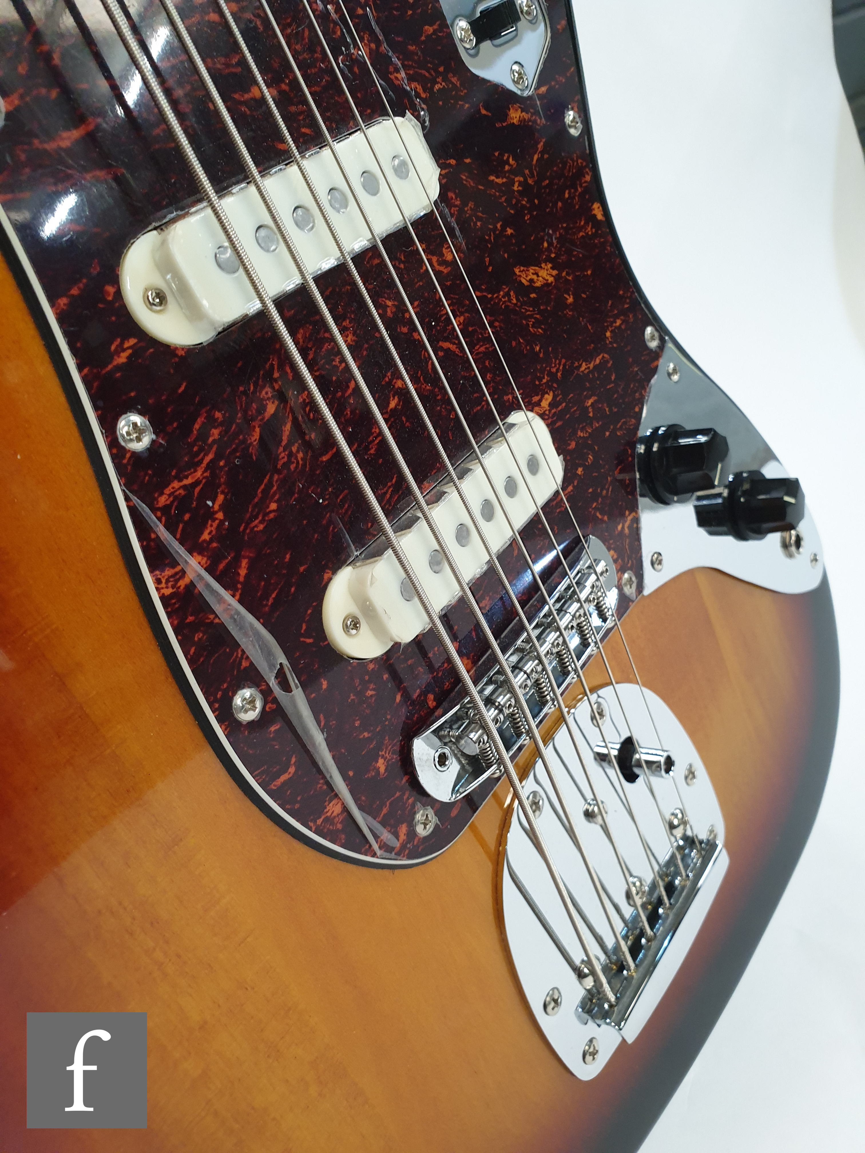 A Squire VI by Fender electric guitar, serial number 15208800, made in Indonesia, sunburst finish, - Image 4 of 4