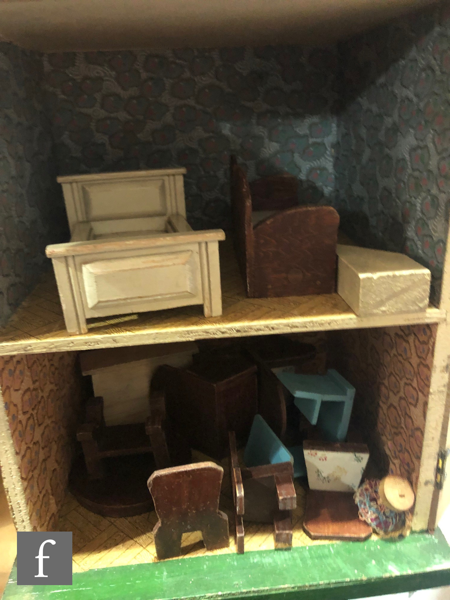 A Triang The Pixie Dolls House, two storey with two rooms and hinged opening, in original box, - Image 4 of 13