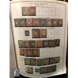 A collection of German postage stamps dating from 1851 to the mid 1970s, in a large blue album.