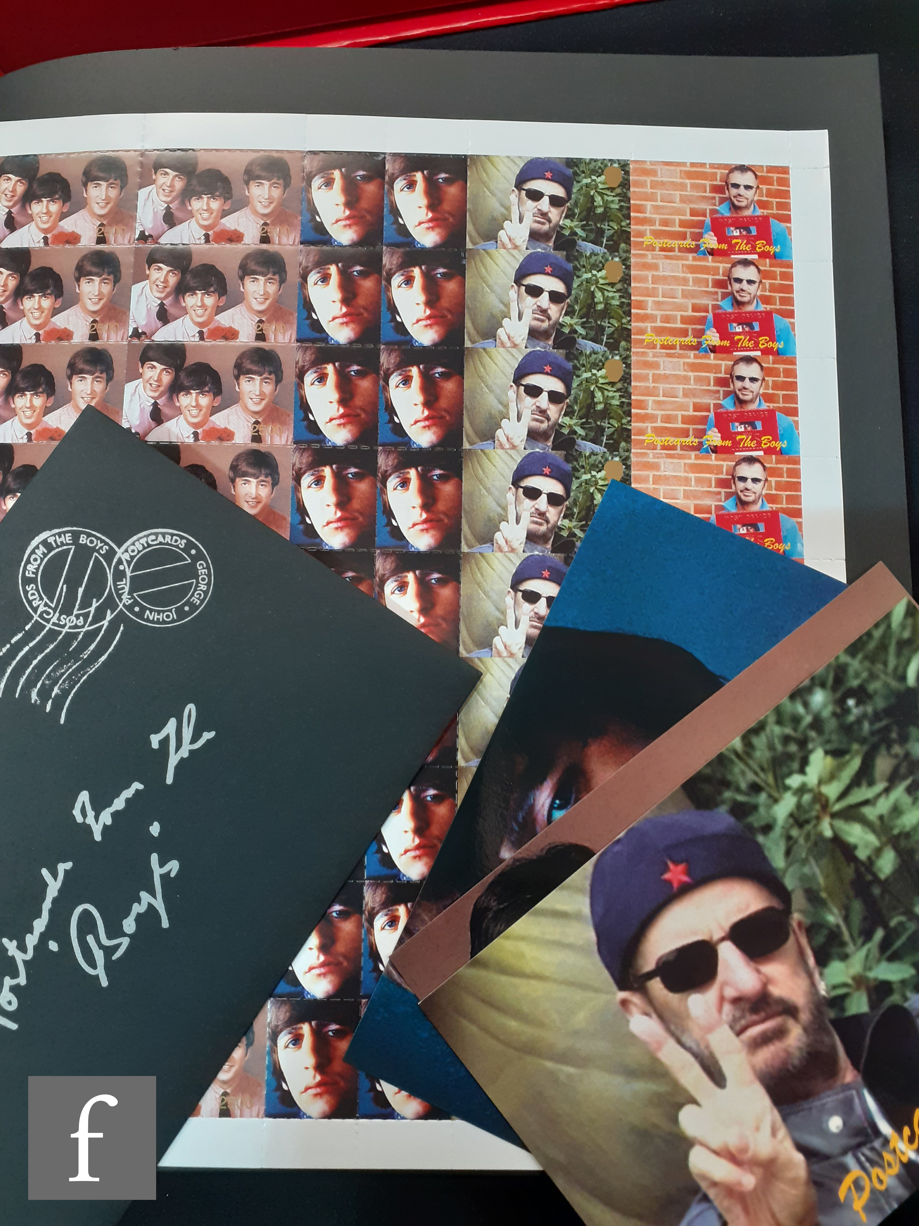 A limited edition Beatles 'Postcards from the boys', Genesis Publications, the metal red post box - Image 8 of 8