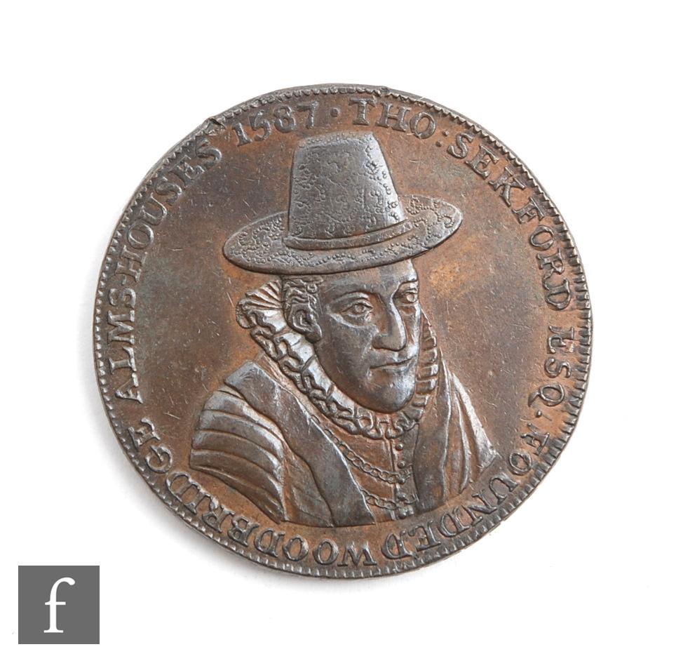 A Thomas Sekford Woodbridge Suffolk token, dated 1796 to edge.