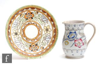 A 1930s Art Deco Charlotte Rhead for Crown Ducal plate decorated in the 6189 Mexican pattern,