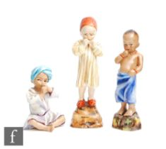 Three Royal Worcester models of children from the Children of the World series modelled by Freda
