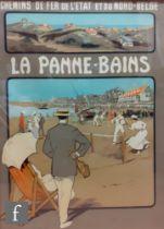 J. Goffin Fils, Bruxelles Publishing - A lithographic poster, circa 1912, forLa Panne-Bains Chemins
