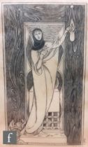 Charles Ricketts, RA (1866-1931) - 'Faith', wood engraving, illustration for Gray's Spiritual Poems,