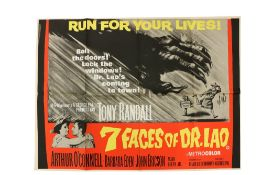 """""""Run for Your Lives""""Cinema Poster: """"7 Faces of Dr. Lao,"""" 1964, produced by Tony Randall, starring"""