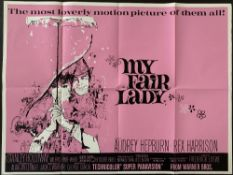 Cinema Poster: My Fair Lady, [1964 (1970's re-release)] directed by George Cukor, starring Audrey