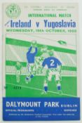 "Controversial Irish Soccer Match in 1955Soccer: F.A.I., 1955, An official Match Programme ""Ireland"