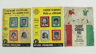 G.A.A.: Football, All-Irelands 1967 - 1969, Official Match Programmes for:(a) 1967 All-Ireland, Cork