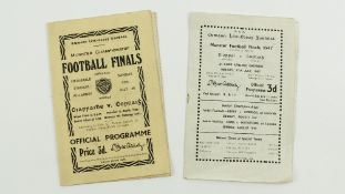 G.A.A.: [Football, Munster Championship 1947 & 1948] Official Match Programmes for:(a) 1947 Football