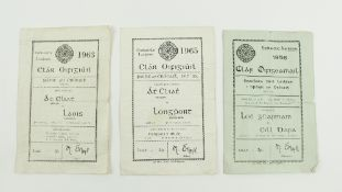 G.A.A.: Football [Leinster Championship] 1950/60's, a collection of three Official Match Programmes