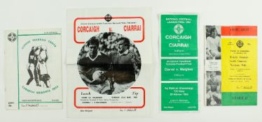 G.A.A.: Football [National League] 1980's, a collection of four Official Match Programmes for the