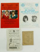 G.A.A.: Munster [Hurling & Football] 1960's/70's, a collection of three Official Match Programmes to