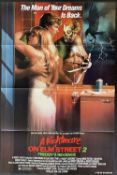 """""""The Man of Your Dreams Is Back""""Cinema Poster:A Nightmare on Elm Street 2 - Freddy's Revenge, ["""