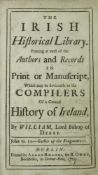 [Richardson] William, Lord Bishop of Derry, The Irish Historical Library, 8vo D. 1724. First Edn.,