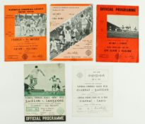 G.A.A.: Football [National League] 1960's, a collection of five Official Match Programmes for:(a)