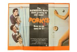 """""""Keep an Eye Open for It""""Cinema Poster: """"Porky's - the Raunchiest Movie about Growing Up Ever Made,"""""""
